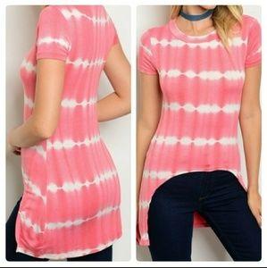 Pink Tie-Dye Top